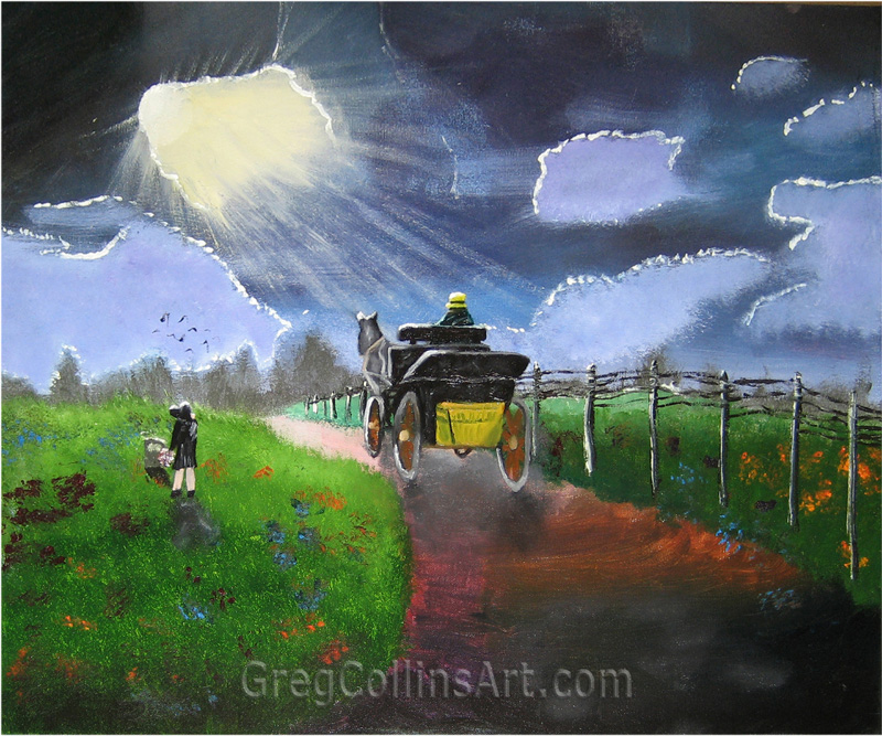 006 'Country Funeral' 20x24 oil on canvas