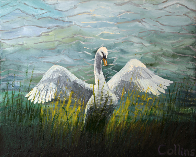 014 'Mighty Swan' 16x20 oil on canvas