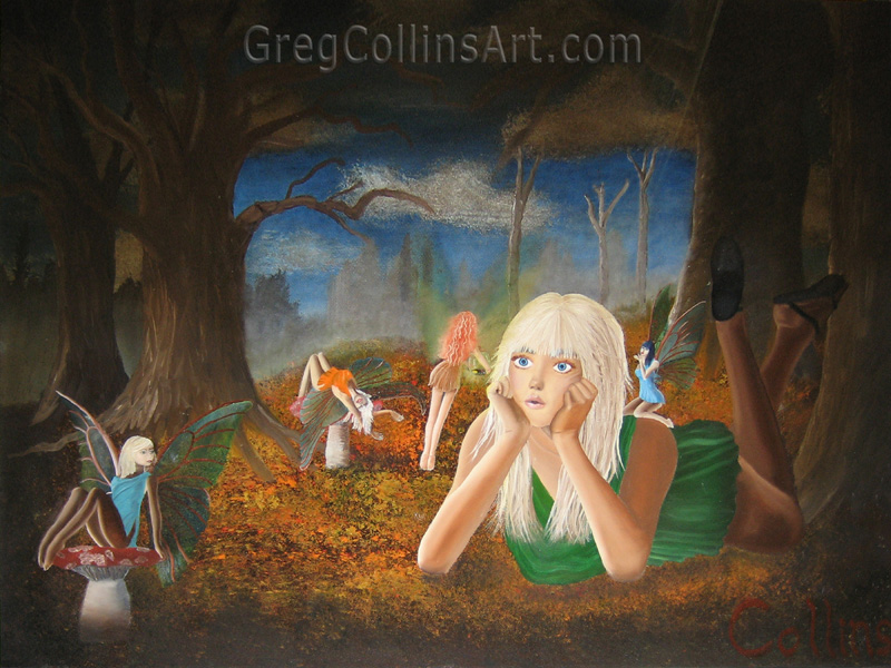 015 'Faerie Forest' 30x40 oil on canvas